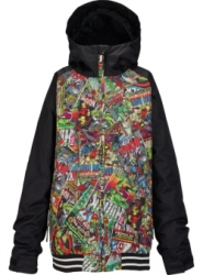 2017 BURTON Boys' Game Day Jacket MARVEL/TRUE BLACK